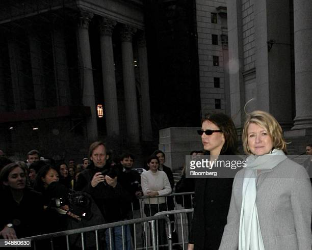 Martha Stewart right exits Manhattan Federal Court in New York with her daughter Alexis on March 1 2004 Lawyers in the Martha Stewart trial focused...