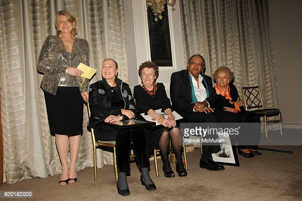 Martha Stewart Rita Gam Ruth Finley Dean Hutchins and Dr Ruth Gruber attend MARTHA STEWART CENTER for LIVING at MOUNT SINAI on November 5 2008