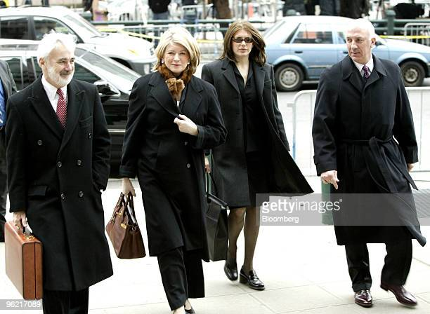 Martha Stewart second from left arrives at the Federal Courthouse in New York February 19 2004 Also seen are attorney John Tigue left and daughter...