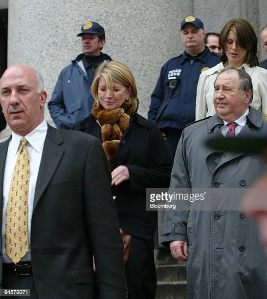 Martha Stewart second from left leaves Manhattan Federal Court in New York on March 5 2004 Also seen are her bodyguard Frank Senerchia left lead...