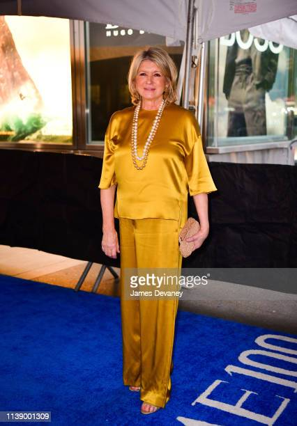 Martha Stewart seen in Columbus Circle on her way to the 2019 Time 100 Gala on April 23 2019 in New York City