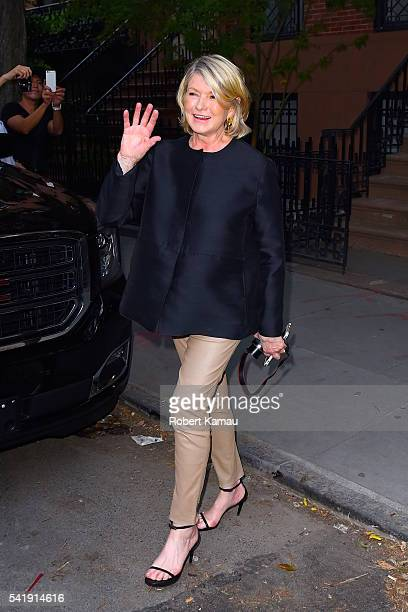 Martha Stewart seen in West Village on June 20 2016 in New York City