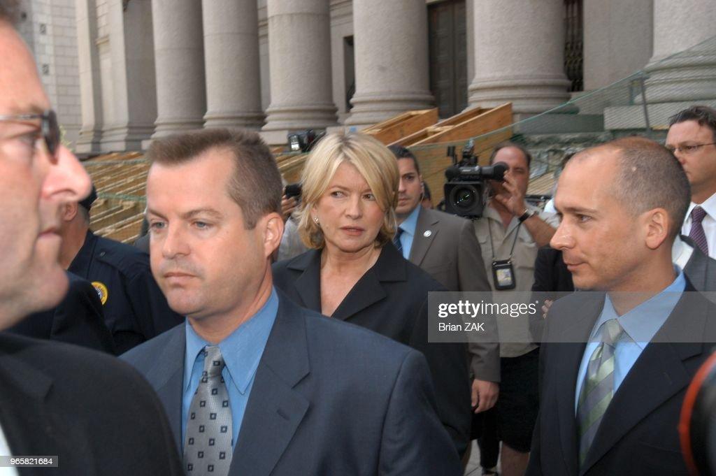 Martha Stewart Sentenced Today at Federal Court : News Photo