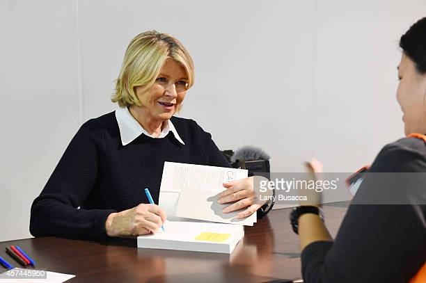 """Martha Stewart signs copies of her book """"One Pot"""" at the Grand Tasting presented by ShopRite featuring KitchenAid® culinary demonstrations presented..."""