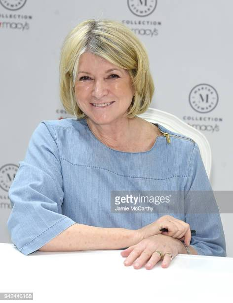 Martha Stewart signs copies of her new book Martha's Flowers at Macy's Herald Square on April 5 2018 in New York City