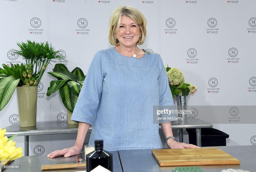 "Martha Stewart Signs Copies Of Her New Book ""Martha's Flowers"""