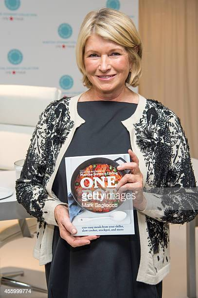 Martha Stewart signs her new cookbook One Pot at Macy's Herald Square on September 23 2014 in New York City