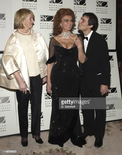Martha Stewart Sophia Loren and Carlos Ponti Jr