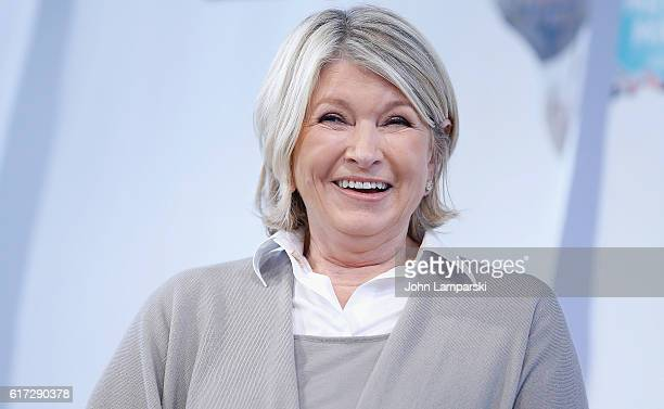 Martha Stewart speaks during the Martha Stewart American Made Summit at Martha Stewart Living Omnimedia Headquarters on October 22 2016 in New York...