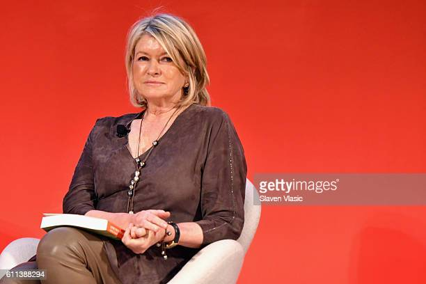 Martha Stewart speaks onstage at the Good Health is Good Business panel at The Town Hall during 2016 Advertising Week New York on September 29 2016...