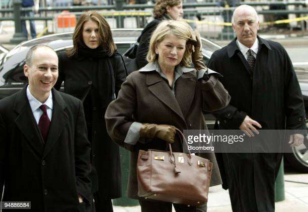 Martha Stewart third from left arrives at the Federal Courthouse in New York February 20 2004 Also seen is her daughter Alexis second from left