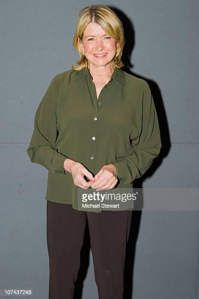 Martha Stewart visits the Apple Store Soho on December 8 2010 in New York City