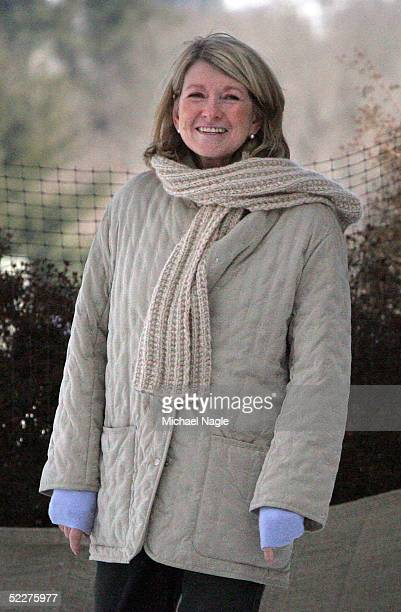 Martha Stewart walks around her $16 million New York estate for the first time in five months March 4 2005 in Katonah New York Released from prison...