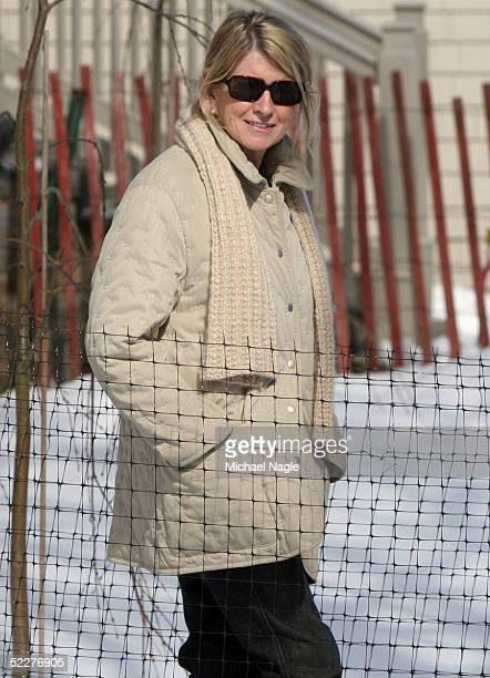 MARCH 4 Martha Stewart walks around her property March 4 2005in Katonah New York Stewart was released from prison early in the morning March 4 and is...
