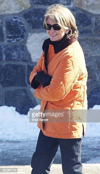 Martha Stewart walks on her estate March 5 2005 in Katonah New York Stewart was released from jail March 4 and will spend the next five months...
