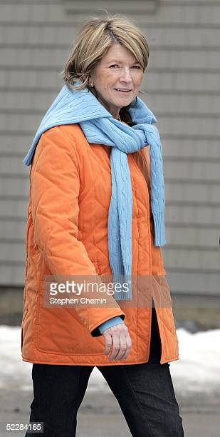 Martha Stewart walks on her Katonah estate March 6 2005 in Katonah New York Stewart was released from jail March 4 and will spend the next five...