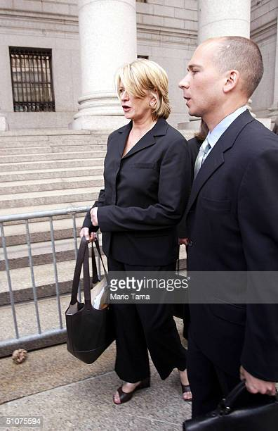 Martha Stewart walks outside Federal Court after her sentencing hearing July 16 2004 in New York City Stewart was sentenced to five months in federal...