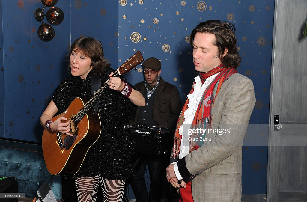 Martha Wainwright and Rufus Wainwright attend 'Sing Me The Songs That Say I Love You: A Concert For Kate McGarrigle' premiere after party at Tribeca Grand Hotel on November 10, 2012 in New York City.