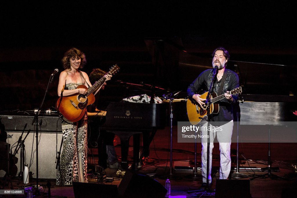 Martha Wainwright and Rufus Wainwright perform at Ford Theatre on August 20, 2017 in Hollywood, California.