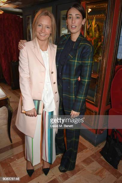 Martha Ward and Laura Jackson wearing Paul Smith attend the Paul Smith Malgosia Bela AW18 Lunch on January 21 2018 in Paris France