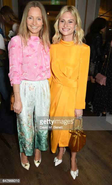 Martha Ward and Pandora Sykes arrive as Topshop and Leandra Medine host dinner to celebrate London Fashion Week on February 19 2017 in London England