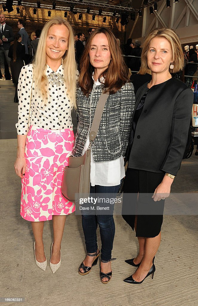 Martha Ward (L) and Serena Linley (R) attend the J.Crew concept store to launch their partnership with Central Saint Martins College Of Arts And Design at The Stables on May 22, 2013 in London, England.