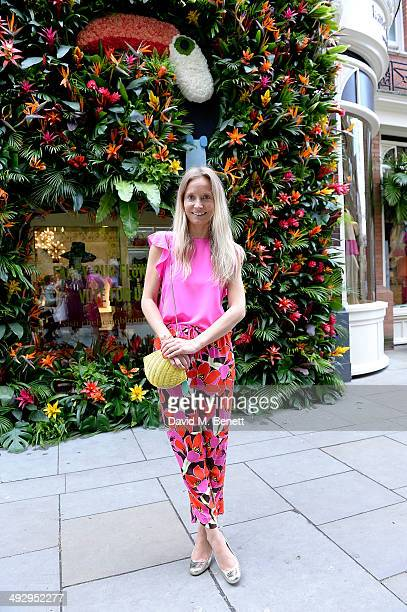 Martha Ward attends a Tropical Fete with floral workshop by celebrity stylist Martha Ward and Wild at Heart at the Kate Spade New York Sloane Street...