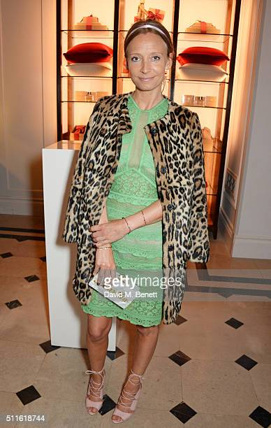 Martha Ward attends as mytheresacom and Burberry celebrate the new MYT Woman at Thomas's on February 21 2016 in London England