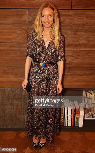 Martha Ward attends the BFC Fashion Trust x Farfetch cocktail reception on April 28, 2016 in London, England.