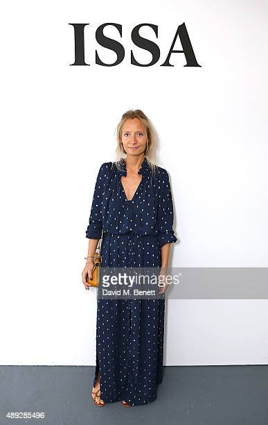 Martha Ward attends the Issa Spring/ Summer 2016 London Fashion Week Show at BFC Show Space on September 20 2015 in London England