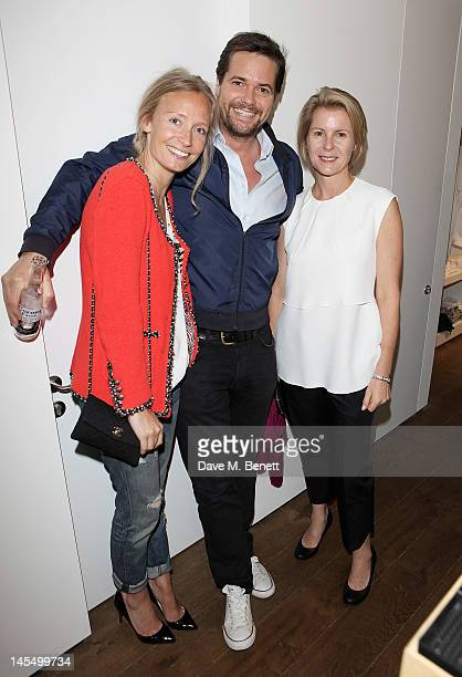 Martha Ward guest and Viscountess Serena Linley attend as James Perse launch their first European store in Notting Hill on May 31 2012 in London...