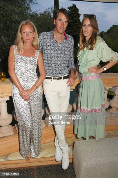 Martha Ward Otis Ferry and Lady Alice Manners attend the Lelloue launch party at Villa St George on July 21 2017 in Cannes France