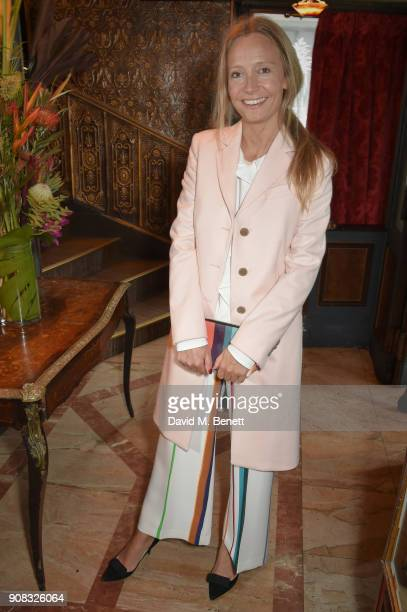 Martha Ward wearing Paul Smith attends the Paul Smith Malgosia Bela AW18 Lunch on January 21 2018 in Paris France