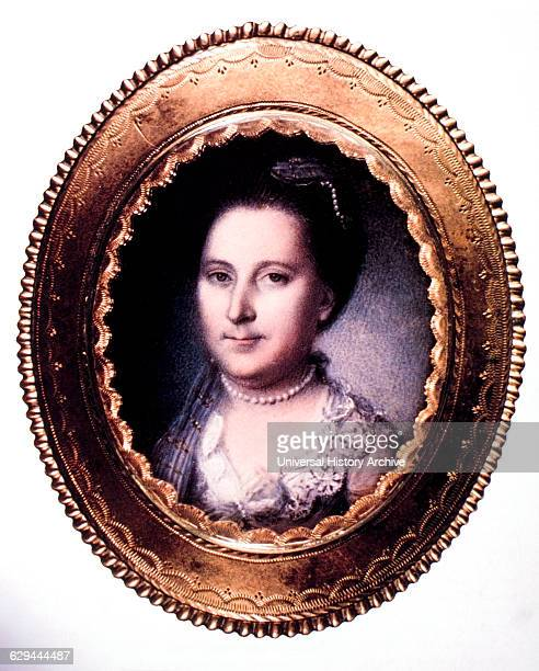 Martha Washington Wife of George Washington First US President Portrait by Charles Willson Peale 1776