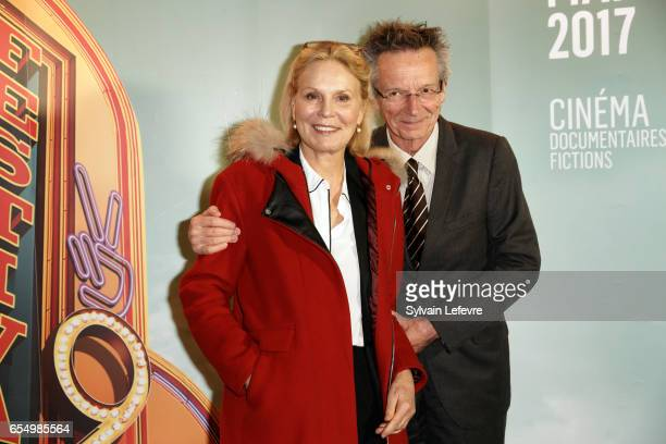Marthe Keller and Patrice Leconte attend closing ceremony photocall of Valenciennes Cinema Festival on March 18 2017 in Valenciennes France