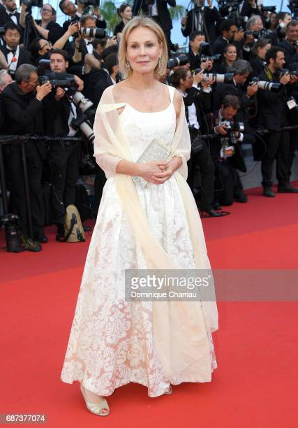 Marthe Keller attends the 70th Anniversary screening during the 70th annual Cannes Film Festival at Palais des Festivals on May 23 2017 in Cannes...