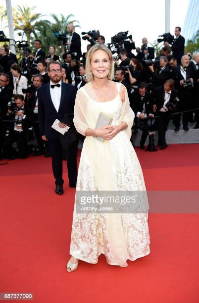 Marthe Keller attends the 70th Anniversary screening during the 70th annual Cannes Film Festival at Palais des Festivals on May 23, 2017 in Cannes,...