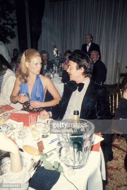 Marthe Keller et Jacques Charrier au Festival du film en mai 1973 à Cannes France