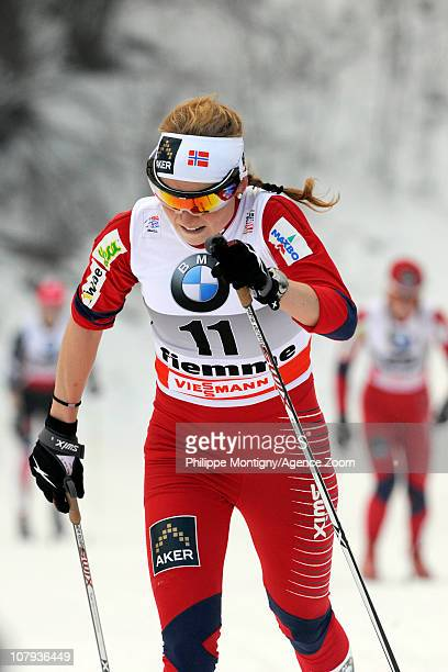 Marthe Kristoffersen of Norway during the FIS CrossCountry World Cup Tour de Ski Women's 10 km on January 8 2011 in Val di Fiemme Italy