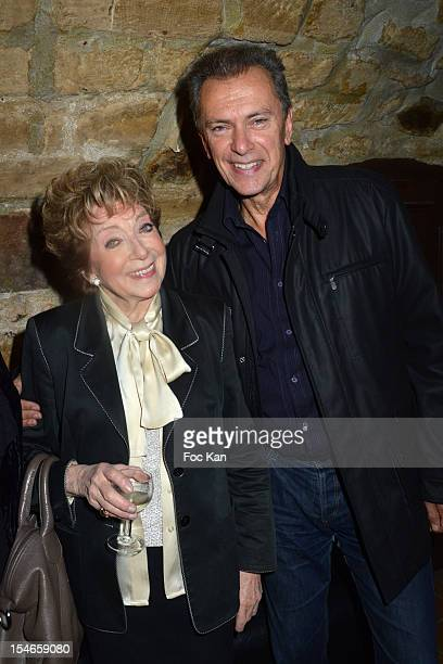 Marthe Mercadier and singer Richard Sanderson attend the 'Les 10 Ans de Marc Mitonne' Party Hosted by '2 Mains Rouges' at the Marc Mitonne Restaurant...