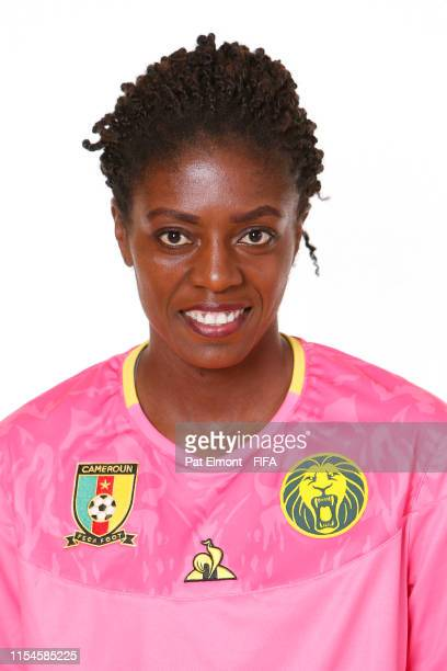 Marthe Ongmahan of Cameroon poses for a portrait during the official FIFA Women's World Cup 2019 portrait session at Crowne Plaza Montpellier Corum...