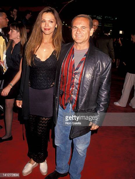 """Marti Harro and Joe Pesci at the Premiere of """"True Romance"""", Mann Chinese Theater, Hollywood."""