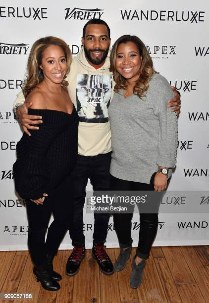 Marti Hines Omari Hardwick and Lolo Wood attend the WanderLuxxe House with Apex Social Club and Tesla presents A BOY A GIRL AND A DREAM Premiere...