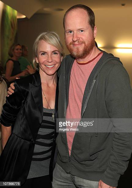 Marti Noxon and Josh Whedon attend a special screening of the Russian musical 'Hipsters' to benefit AmeriCares at WME on December 6, 2010 in Beverly...