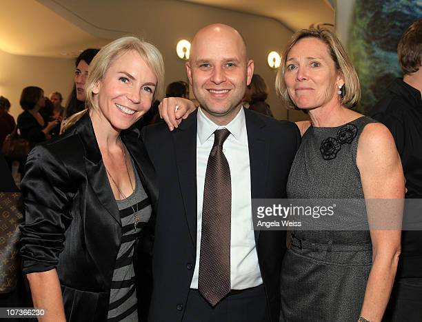Marti Noxon, Ari Greenberg and Carolyn O'Brien attend a special screening of the russian musical 'Hipsters' to benefit AmeriCares at WME on December...