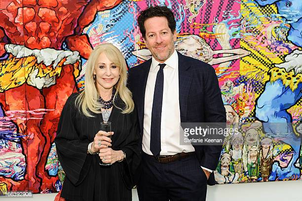 Marti Oppenheimer and Tim Blum attend Takashi Murakami Private Preview And Dinner At Blum Poe on April 11 2013 in Los Angeles California