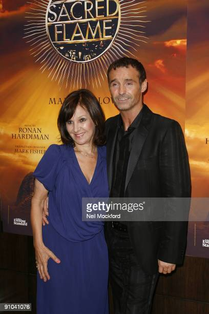 Marti Pellow and former Strictly Come Dancing judge Arlene Phillips pose at the Sacred Flame photocall on September 23 2009 in London England