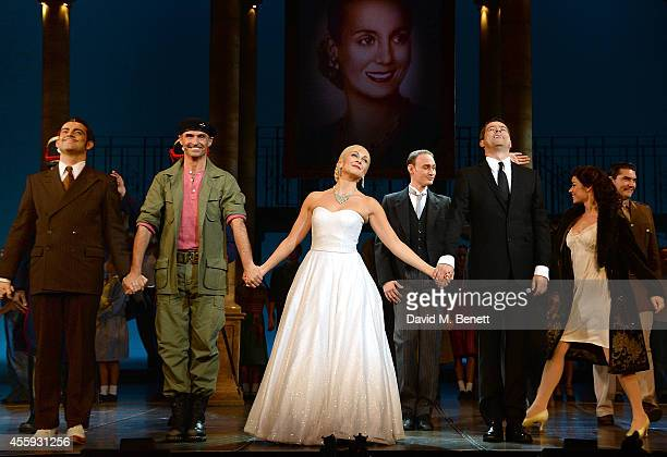 Marti Pellow and Madalena Alberto during the press night performance of 'Evita' at the Dominion Theatre on September 22 2014 in London England