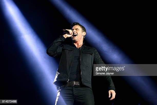 Marti Pellow of Wet Wet Wet performs live on stage at The O2 Arena on March 6 2016 in London England