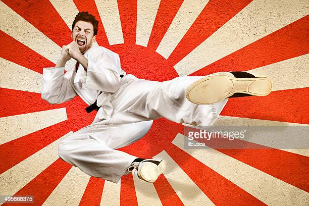 Martial art flying kick